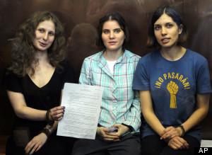 Pussy Riot on trial: Nadezhda Tolokonnikova,Yekaterina Samutsevich,Maria Alekhina