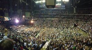 At Bridgestone Arena, waiting for The Boss. Photo by Brad Paulsen.
