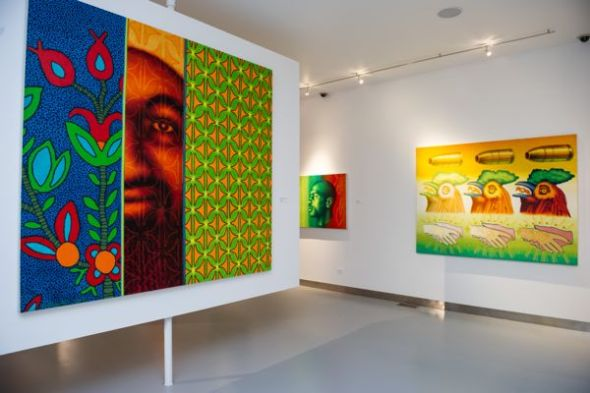 View of the Ed Paschke gallery. Photo courtesy Ed Paschke Art Center.